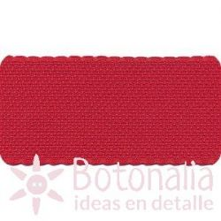 Cross Stitch Aida tape - red with border in red