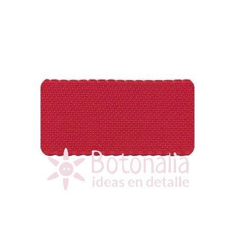 Cinta de panamá para bordar roja con borde rojo