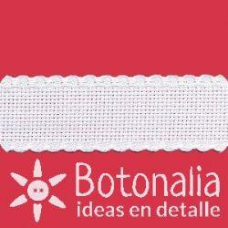 Cinta de Panamá para bordar color blanco 30mm