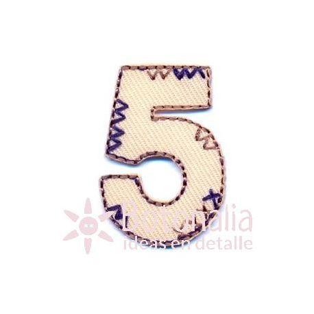 Pegatina Número Cinco