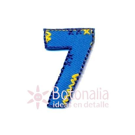 Iron-On sticker with the number Seven
