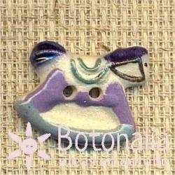 Newborn baby boy - rocking horse in blue