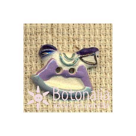 Nacimiento bebé niño - Balancín caballito azul