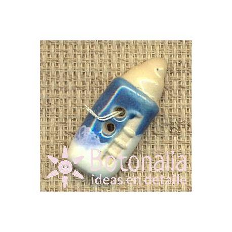 Newborn baby boy - baby bottle in blue.