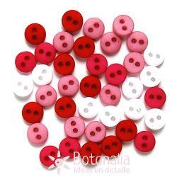 Botones pequeños - Colores Románticos