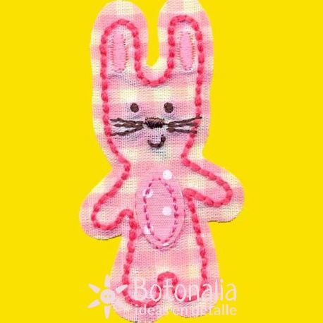 Rabbit in pink gingham