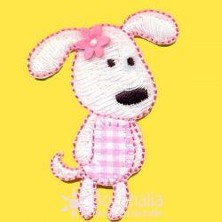 Perrita en vichy rosa