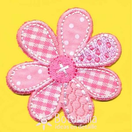 Flower in pink gingham.