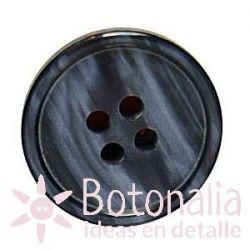 Botón con vetas rectas en tonos grises.