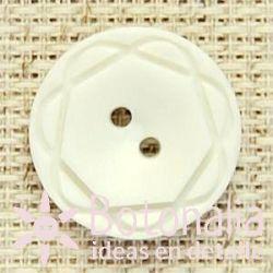 Botón blanco tallado 21 mm