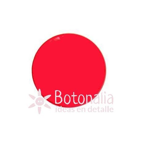 Botón rojo liso 18 mm