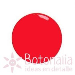 Red button with a smooth design 15 mm