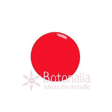 Botón rojo liso 15 mm
