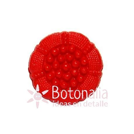 Red decorated button.