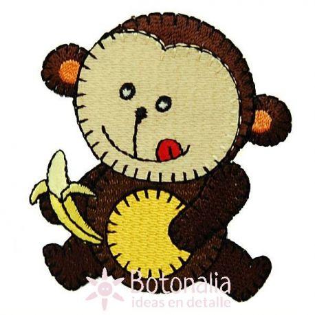 Little monkey eating a banana