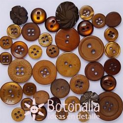 Buttons in brown color