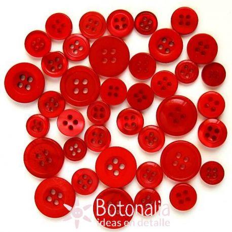 Botones en tonos rojos
