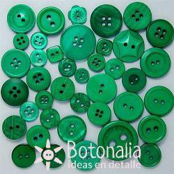 Botones en tonos verdes