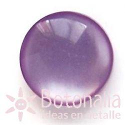 Cabujón pulido violeta.
