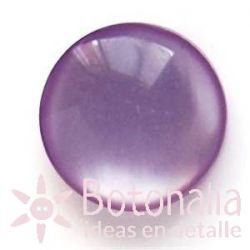 Polished cabochon with shank in purple.