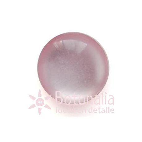 Polished cabochon with shank in pink