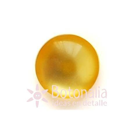 Polished cabochon with shank in yellow