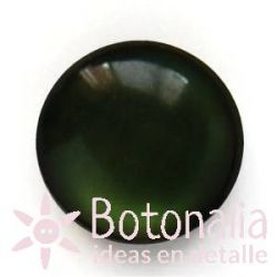 Polished cabochon with shank in green