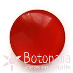 Polished cabochon with shank in red