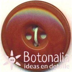 Circular con interior elíptico - Marrón Rojizo