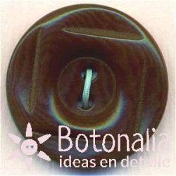 Classic round button with a square interior