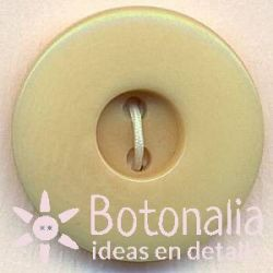 Classic round button with a smooth design in beige.