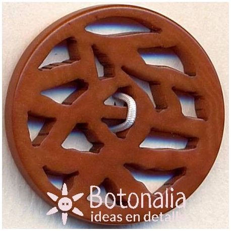 Classic round button carved with curve geometric design