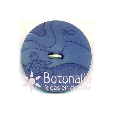 Circular con tallado marinero azulado 20 mm