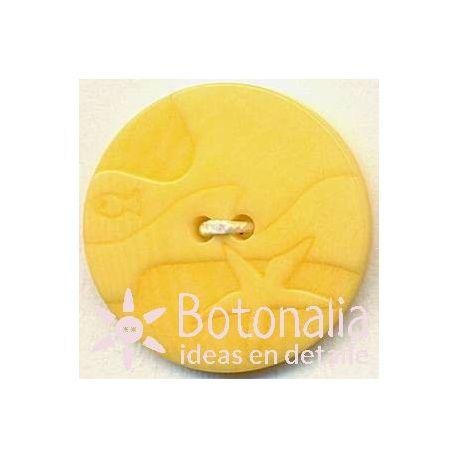Circular con tallado marinero amarillo 20 mm