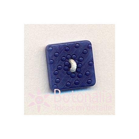 Cuadrado con tallado azul 14 mm