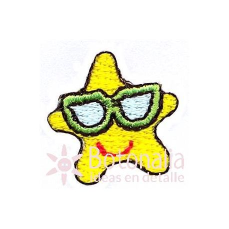 Starfish with glasses