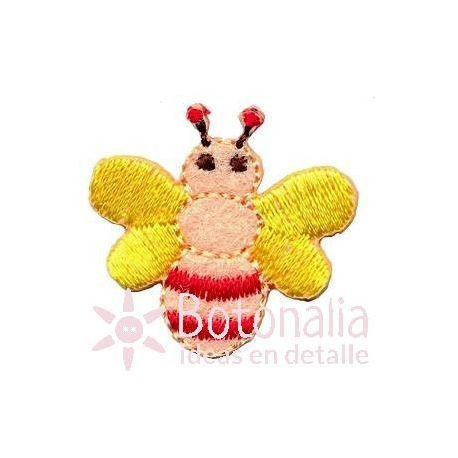 Bee in yellow and pink
