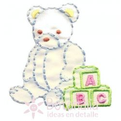 Little bear in pastel colors.