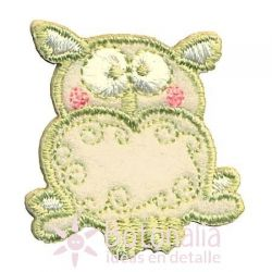 Owl in pastel colors.