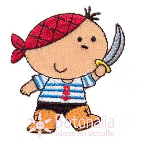 Little pirate with a sword