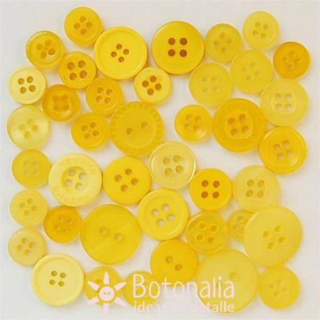 Botones en tonos amarillos