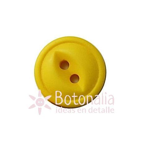Button in yellow 15 mm