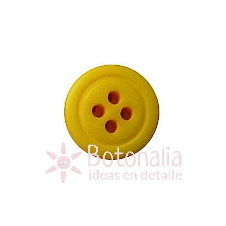 Button in yellow 13 mm