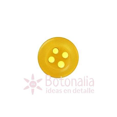 Button in yellow 10 mm