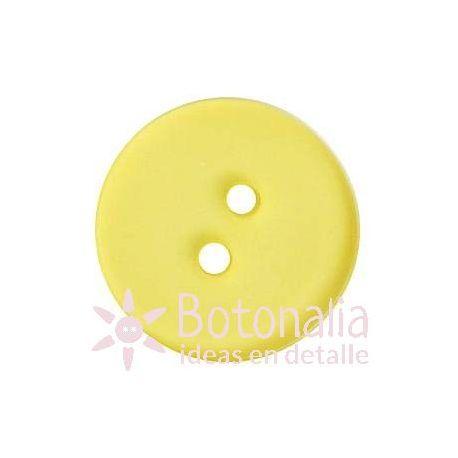 Botón amarillo transparente 18 mm