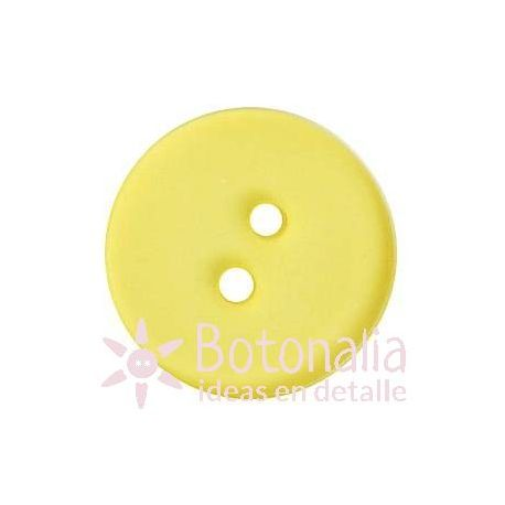 Button in yellow (transparent) 18 mm