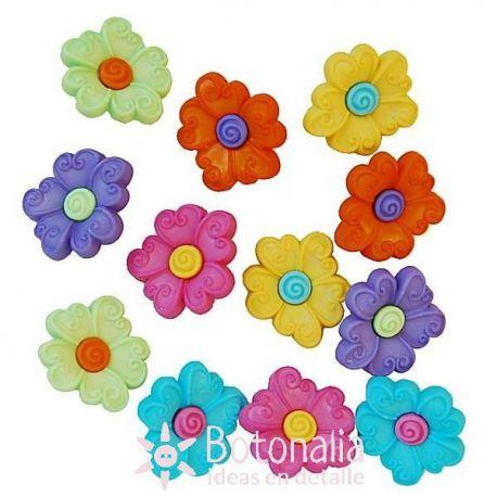 Dress-it-Up - Button Fun - Flores
