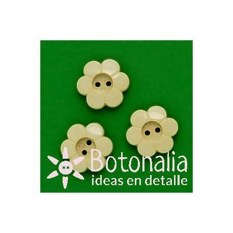 Florecita crema 15 mm