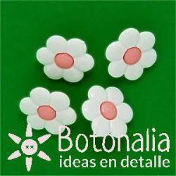 Margarita blanca y rosa 14 mm