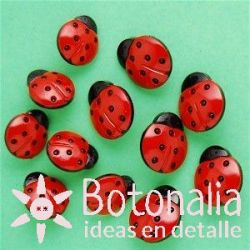 Dress-it-Up - Ladybugs de 16 and 18 mm